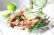 Langoustine with lime and white wine