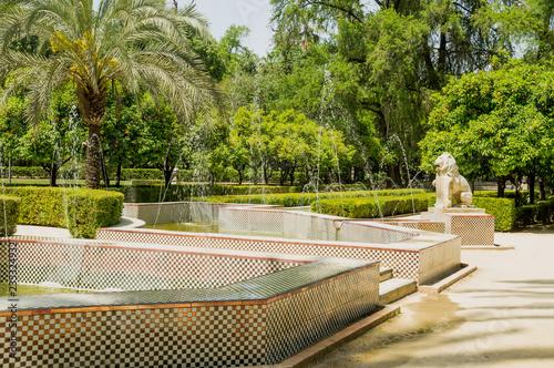 Leinwandbild Motiv Maria Luisa Park in the Andalusian capital, Sevilla in Spain