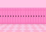 3d rendering. sweet pink metal Lockers row background. - 235352174