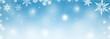 Leinwandbild Motiv Schneeflocken - Weihnachtsmotiv