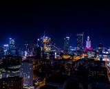 Nocna panorama Warszawy