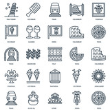 Set Of 25 Universal Editable Icons. Includes Elements Such As Pi