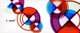 Vector abstract colorful circles background