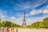 Eiffel tower in summer