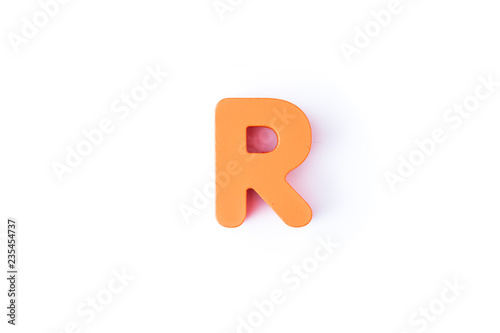 Foto Murales R letters in English on a white background.
