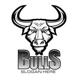 Bull Black and White Logo