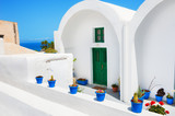 Traditional greek architecture on Santorini island, Greece.