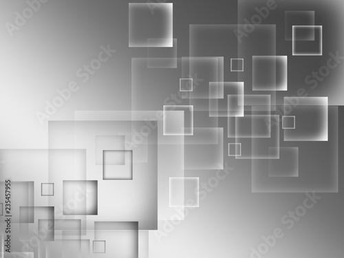 Streszczenie kwadraty szare tło