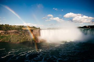 Niagarafälle I Regenogen Panorama © Paul Meixner