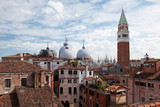 Panorama view of the roofs of Venice, Italy