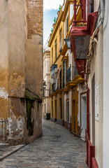 narrow street in old town