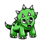 Green Baby Triceratops