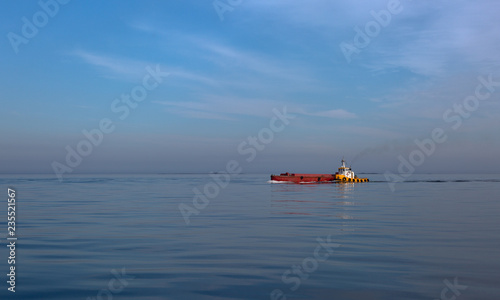 Tug boat in the sea