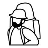 young man with climbing bag - 235532185