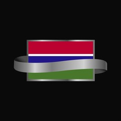 Gambia flag Ribbon banner design