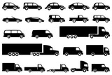 Different cars icons. Vector