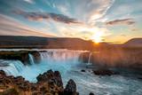 Majestic Godafoss Waterfall