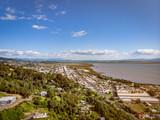 Drone view of Thames, Coromandel New Zealand