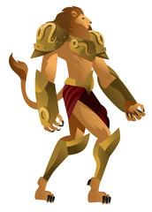 leo zodiac lion knight