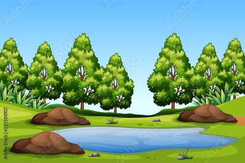 A nature green landscape - 235584907