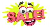 Sale Money Saving Special Offer Discount Cartoon Face 3d Animation - 235589978