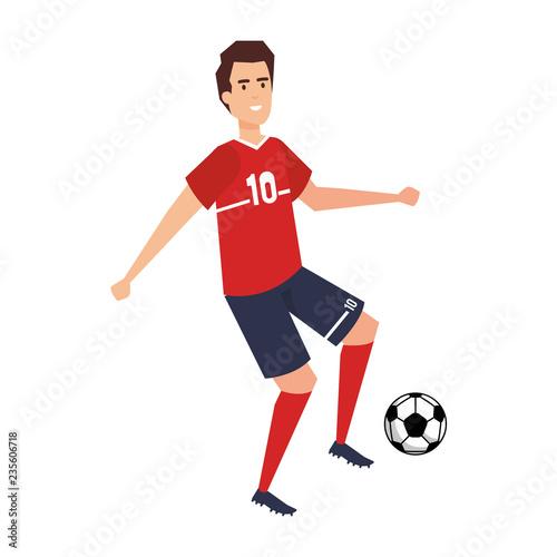 człowiek uprawiania piłki nożnej