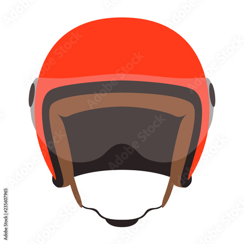 motorcycle helmet vector illustration ,flat style