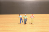 a fun of figure in miniature world