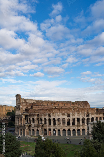 Colosseum from Palatine Hill, Roman Forum, Rome, Italy