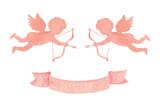 Happy Valentines day watercolor vector illustration. - 235622349