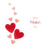 Happy Valentines day watercolor vector illustration. - 235622390