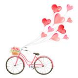 Happy Valentines day watercolor vector illustration. - 235622513