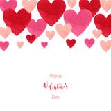 Happy Valentines day watercolor vector illustration. - 235622559