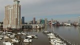 Aerial of Baltimore, Maryland's Cityscape and Surrounding Views of the Bay - 235623910