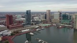 Aerial of Baltimore, Maryland's Cityscape and Surrounding Views of the Bay - 235628987