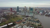 Aerial of Baltimore, Maryland's Cityscape and Surrounding Views of the Bay - 235630783