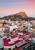 Alicante - Spain, View of Santa Barbara Castle on Mount Benacantil