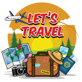 traveling cartoon set