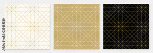 Background pattern seamless square and triangle abstract gold luxury color geometric vector.
