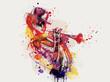 Leinwandbild Motiv Abstract woman face. Grunge fashion