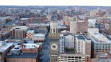Aerial of Baltimore, Maryland's Cityscape and Surrounding Views of the Bay - 235650746