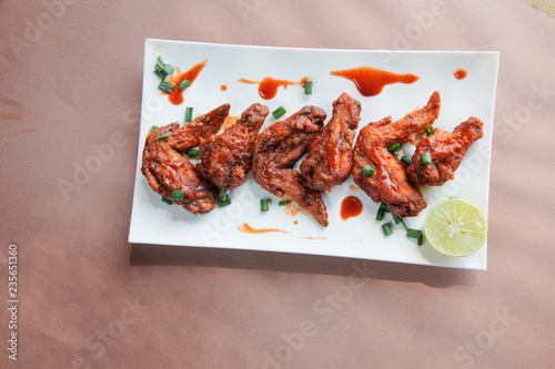 Chipotle Flavoured Chicken Wings Top View