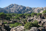 Scenic view of Besparmak Mountain Range with big boulders Aydin Turkey