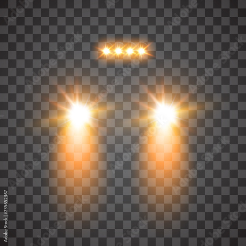 Glow Of Gloom >> Cars Flares Light Effect Realistic White Glow Round Car Headlight