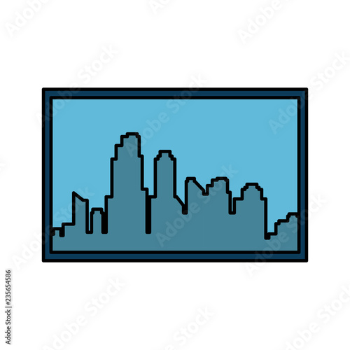 window with cityscape view - 235654586