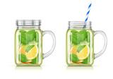 Refreshing lemon, orange, peppermint and cucumber detox water.
