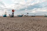 Fischerboote am Strand, Nordsee