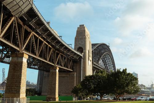 fototapeta na ścianę Sydney Harbour Bridge view during the day with blue sky.