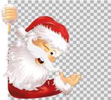 Weihnachtsmann Seite transparent - 235666182