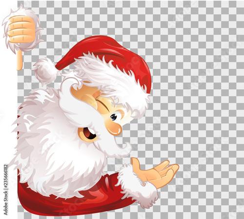 Weihnachtsmann Seite transparent